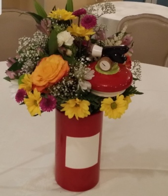 Fire Extinguisher Centerpiece Cookie jar