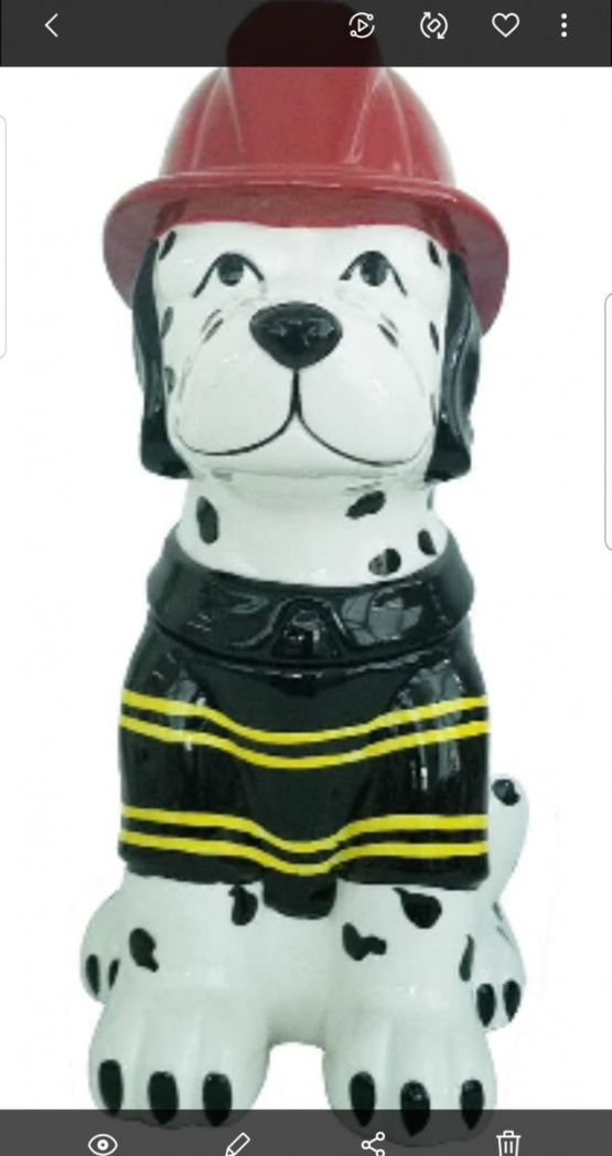 Dalmatian Cookie Jar